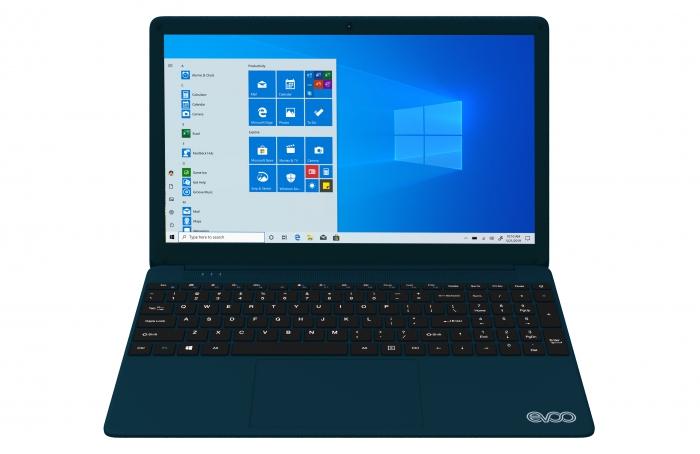 Laptop EVOO 15,6inch FHD, Intel Core i7-7560U , RAM 8GB, SSD 256GB, Windows 10 Home, Xanh lam