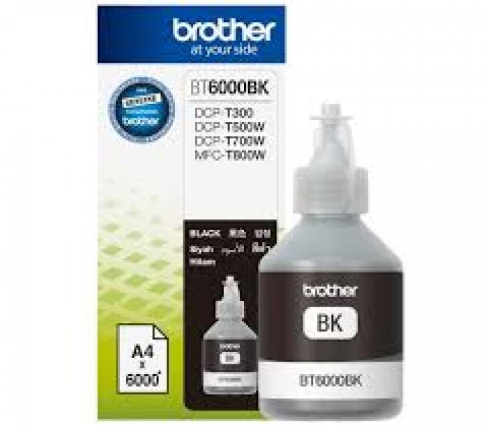 Mực in Brother BT6000Bk, Black Ink bottle (BT6000Bk)
