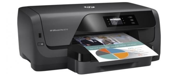 Máy in phun màu  HP OfficeJet Pro 8210 - D9L63A